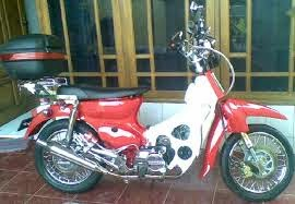 Modifikasi Honda Kalong c70