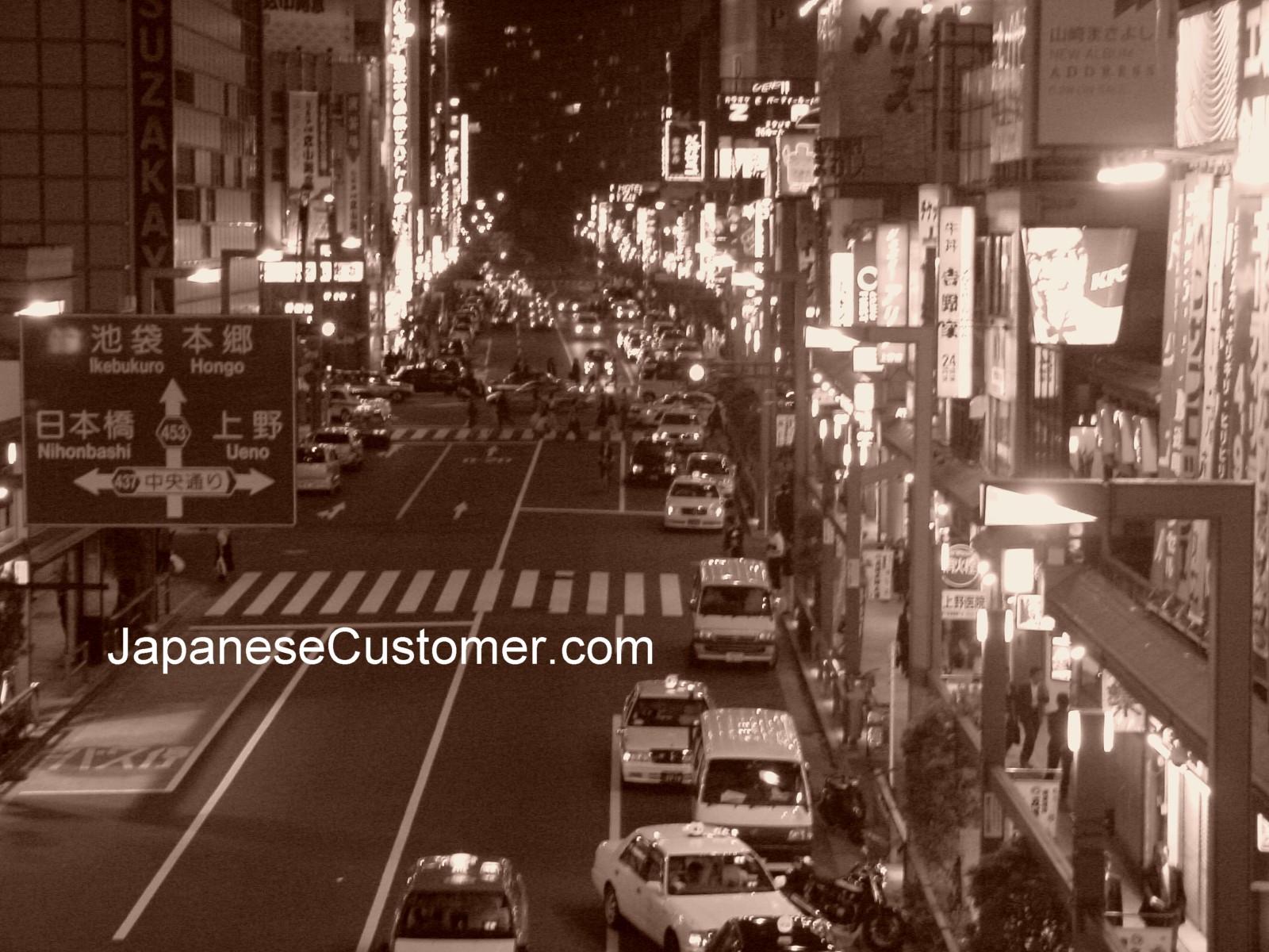 Tokyo night scene Akihabara Copyright Peter Hanami 2006