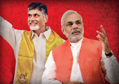 Image result for modi appointed chandrababu for leader of chief ministers meeting