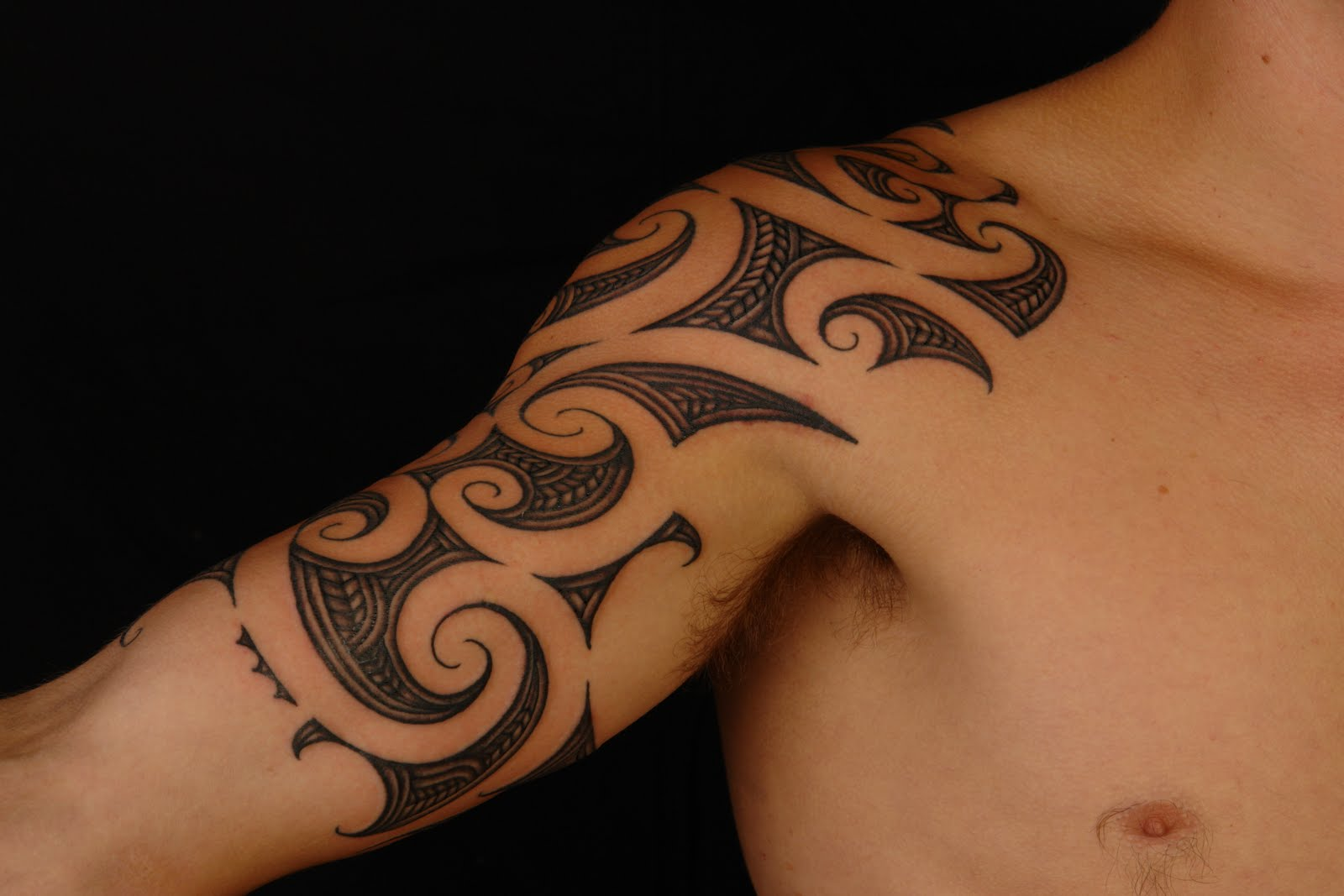 Maori Half Sleeve Tattoo On