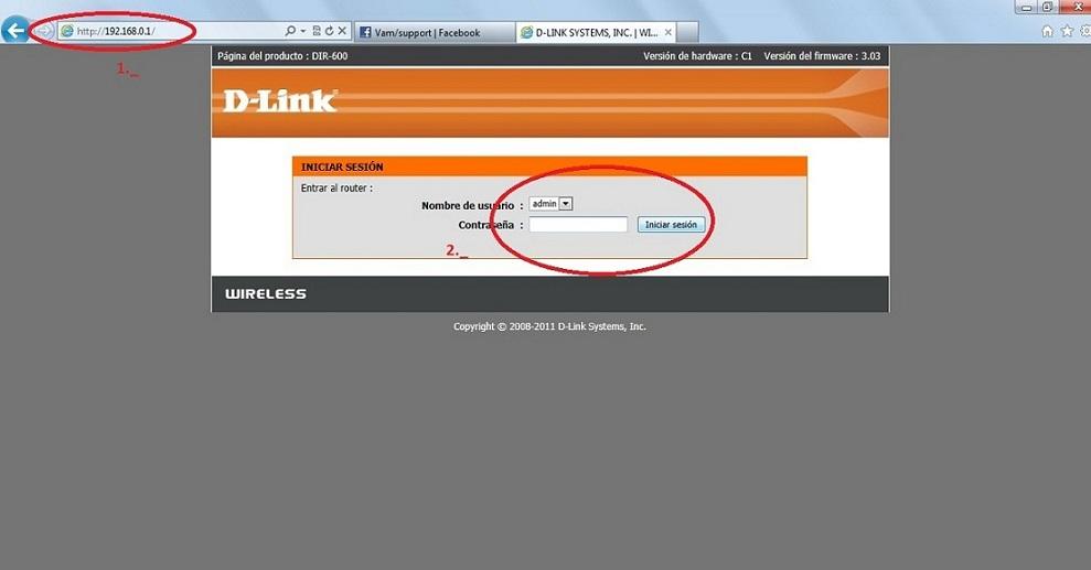 tú navegador y enla barra de direcciones escribe 192.168.0.1