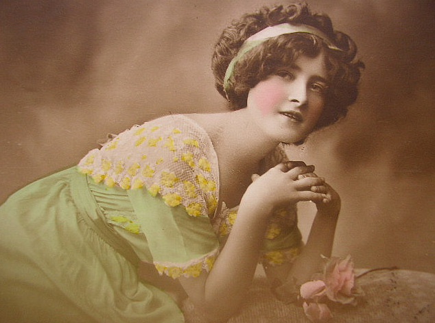 vintage romantic lady