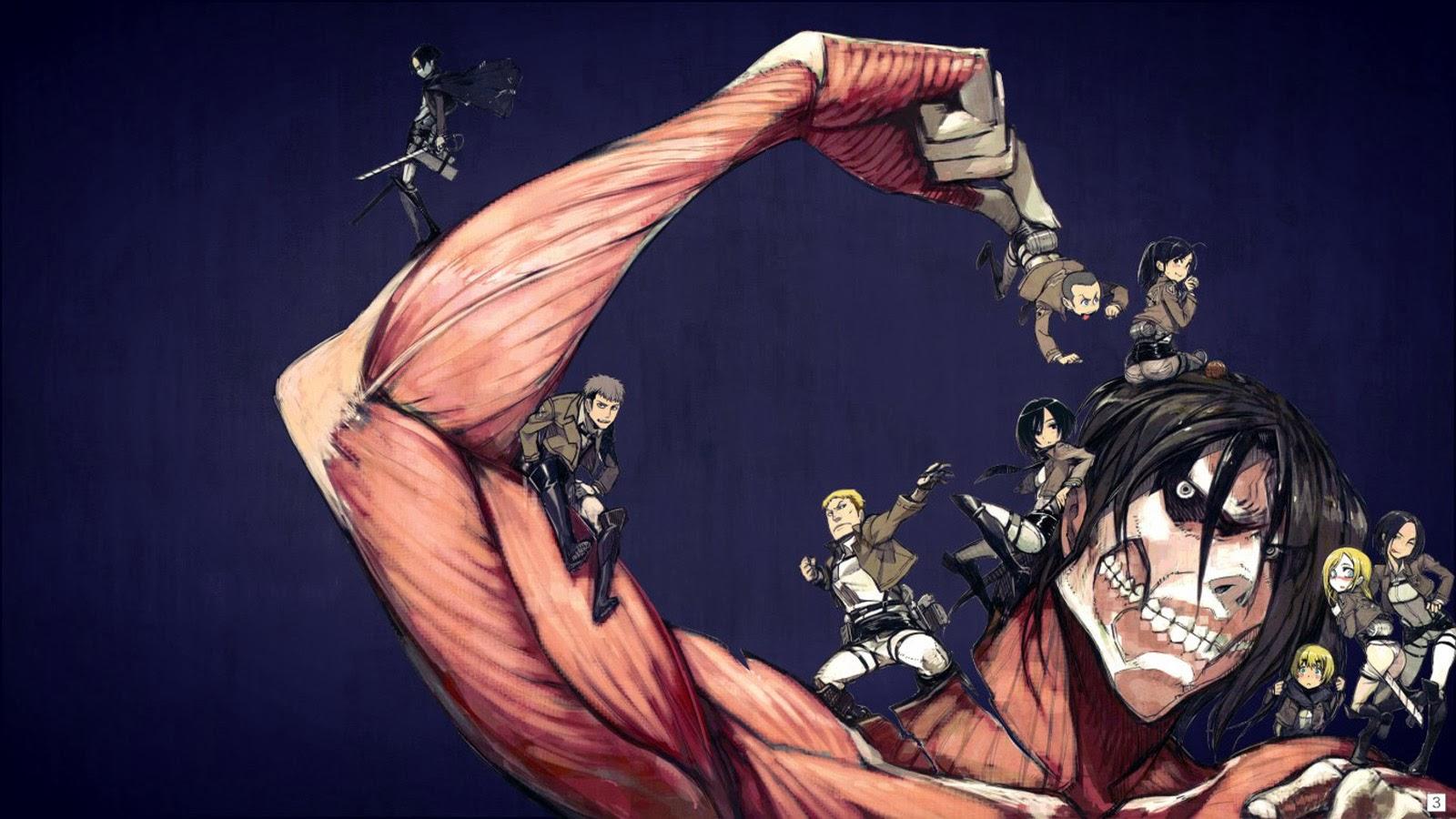 Levi Eren Rogue Titan Attack On Shingeki No Kyojin Anime Hd Wallpaper