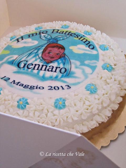 torta per il battesimo di mio nipote!