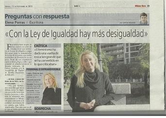Entrevistada en... Diario ÚLTIMA HORA (Nov/2010).