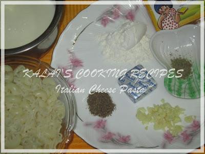 Italian Cheese Pasta Ingredients