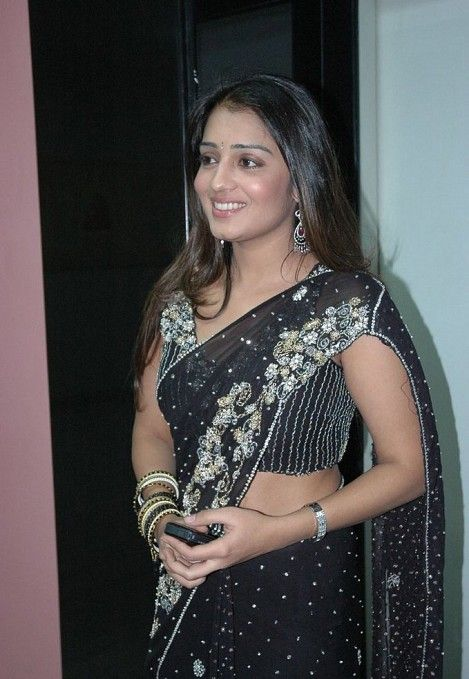 tollywood nikitha black saree hot photoshoot