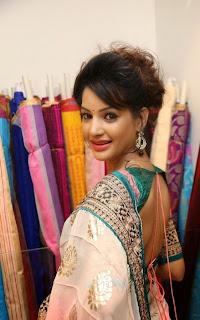 Actress Diksha Panth Latest Pictures in Saree at Nakshatra Designer Store Launch 7