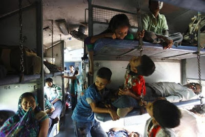 Childrens Travelling In Indian Railways