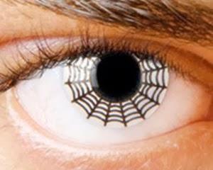 lentillas con telarañas
