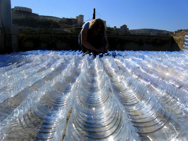 Как сделать крышу из бутылок пластиковых своими руками 630