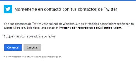 Redes sociales en Outlook