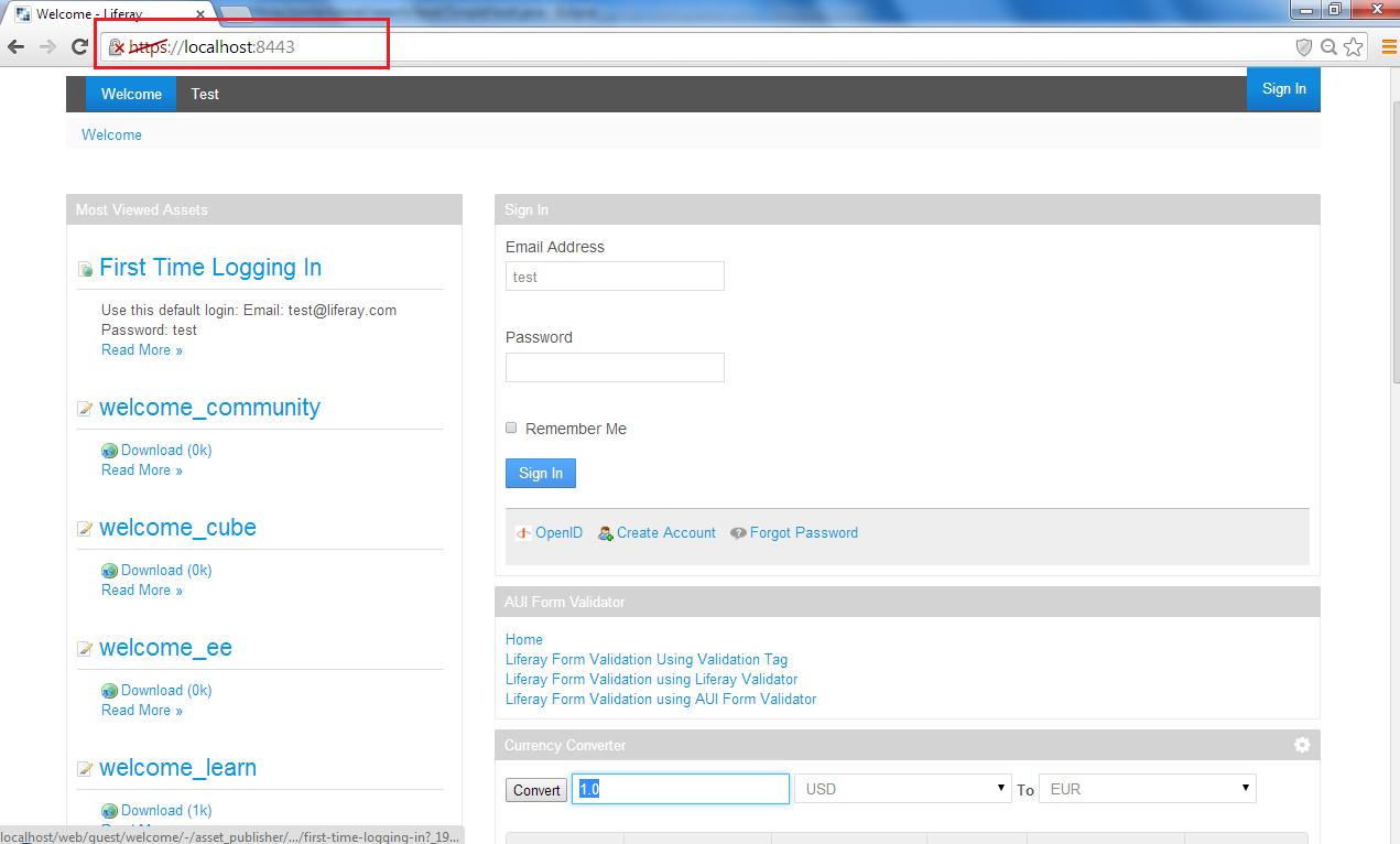 Liferay portal ssl configuration blog important pints xflitez Choice Image