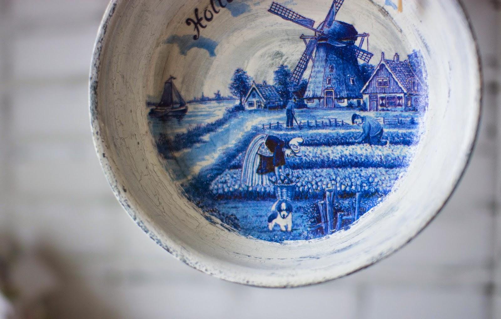 синий, уборка урожая, домики, мельница