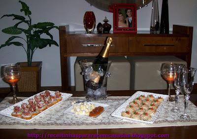 Aperitivos sofisticados para celebrar!