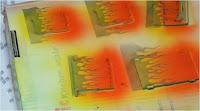Pintura de llamas con plantilla