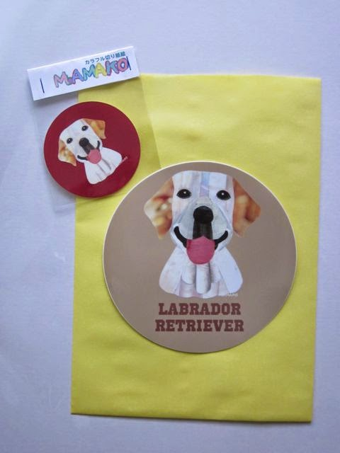 犬種名ステッカー〈ラブラドールレトリバー/イエロー〉