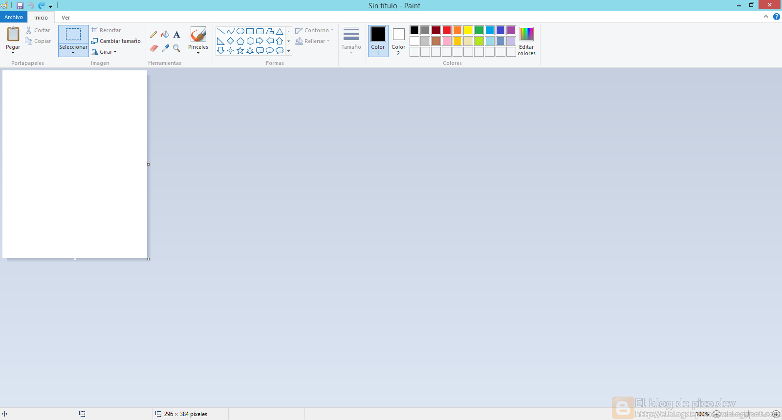 el paint de windows: