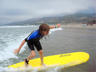 Kids can learn to surf at Aloha Beach Camp summer camp in Malibu