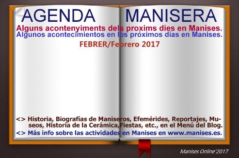AGENDA MANISERA, FEBRER 2017