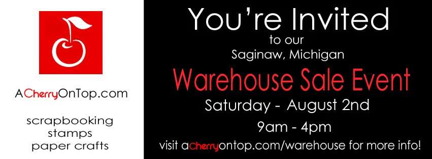 a cherry on top scrapbook warehouse sale