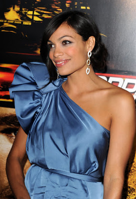 Rosario Dawson Dangling Diamond Earrings