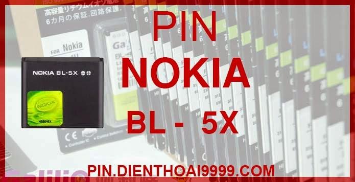 """Pin Nokia BL 5X  - Pin 5x chính hãng / Pin Galilio bl 5x dung lượng cao. - Pin bl 5x chính hãng giá 160.000 - Pin bl 5x dung lượng cao 1100 mAh giá 140.000 - Bảo hành: 6 tháng  - Pin tương thích với điện thoại Nokia  8800/ 8801   Thông số kĩ thuật: - Pin BL 5X được thiết kế kiểu dáng và kích thước y như pin nguyên bản theo máy, Pin tiêu chuẩn, chất lượng như pin theo máy.  - Kích thước: 37.5 x 33 x 5.5mm - Dung lượng: 1100 mah - Điện thế: 3.7V - Công nghệ: Pin Li-ion Battery   Mô tả sản phẩm:  - Pin Galilio nhờ nghiên cứu và phát triển công nghệ lithium nên đã đạt được pin dung lượng cao nhất cho phép (từ 1,5- 2 lần) nhưng vẫn đảm bảo được chất lượng cao, đã vượt qua nhiều tiêu chuẩn chất lượng như ISO 9001, ISO 1400I, CERTIFICATED, hãng cũng ứng dụng Công Nghệ an toàn mà những hãng pin khác không có được: Controller IC, Control swithches, Temperature Fuse.. - Thiết kế kiểu dáng và kích thước y như pin nguyên bản theo máy, thuận tiện và dễ dàng thao tác, pin dung lượng cao cung cấp đủ nguồn điện cho máy sử dụng được trong thời gian dài, có thể mang đi bất cứ đâu để phòng khi pin của máy bạn hết mà không có điều kiện để sạc. - Cho phép bạn giữ các cuộc nói chuyện và bảo đảm cho bạn không bỏ lỡ các cuộc gọi điện thoại quan trọng. - Pin sạc bằng cách gắn vào điện thoại và sạc như pin gốc - Sản phẩm đạt tiêu chuẩn tuyệt đối về an toàn cháy nổ - Bảo hành đổi pin mới trong 6 tháng.  GIAO HÀNG VÀ BẢO HÀNH TẬN NHÀ  Quý khách có nhu cầu mua pin,  hãy liên hệ với chúng tôi:  0904.691.851 - 0976.997.907  Website: http://pin.dienthoai9999.com Mua số lượng lớn: 0942299241  - Hướng dẫn sử dụng, bảo quản pin: http://pin.dienthoai9999.com/p/huong-dan-su-dung-pin - Quy định bảo hành: http://pin.dienthoai9999.com/p/quy-dinh-bao-hanh-pin - Khách hàng góp ý: http://pin.dienthoai9999.com/p/khach-hang-gop-y  Xem thêm pin cùng loại:  - - -   Một số điện thoại dùng được pin dung lượng cao BL 5X:  Nokia 8800 : Món thời trang cao cấp  Nếu bạn thích """"chơi"""" ĐTDĐ thời trang cao cấp thì Nokia 88"""