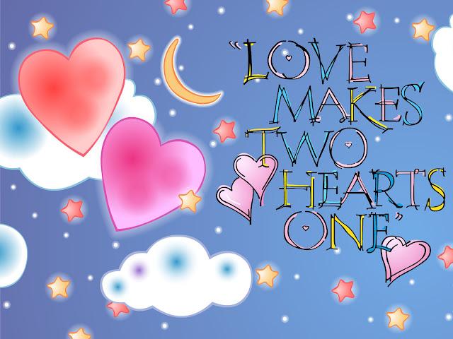 hình nền tình yêu trái tim bầu trời đầy sao
