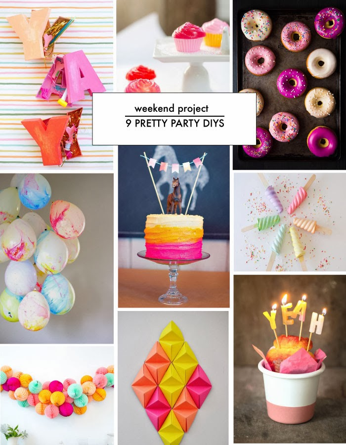 Yay 9 Pretty Party Decor DIYs Poppytalk