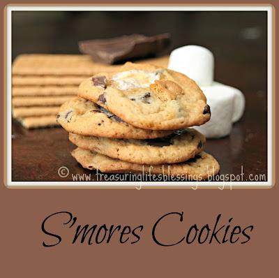 smores cookies, cookies, recipe, dessert