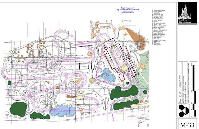 Disney park blueprints big thunder mountain railroad for Florida blueprint
