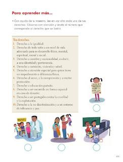 Apoyo Primaria Formación Cívica y Ética 1er Grado Bloque 4 Lección 2 Los niños primero