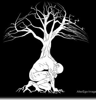 ko se osuje sonce  │ iz semena samote │ poženejo korenine