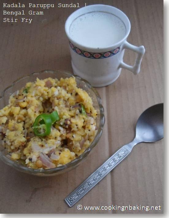 Kadala Paruppu Sundal | Bengal Gram Stir Fry
