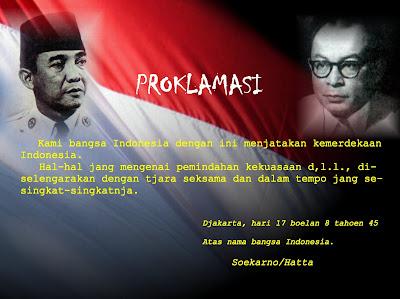 Contoh Puisi Proklamasi HUT RI 67. Untukmu Sang Prolamasi. Puisi Proklamasi HUT Repuklik Indonesia 67