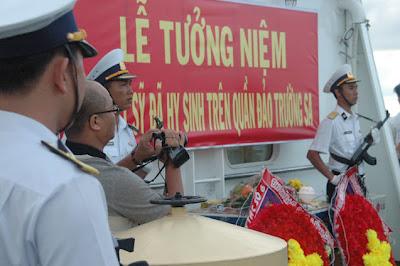 Lễ cầu siêu các anh hùng đã hy sinh tại đảo Gạc Ma