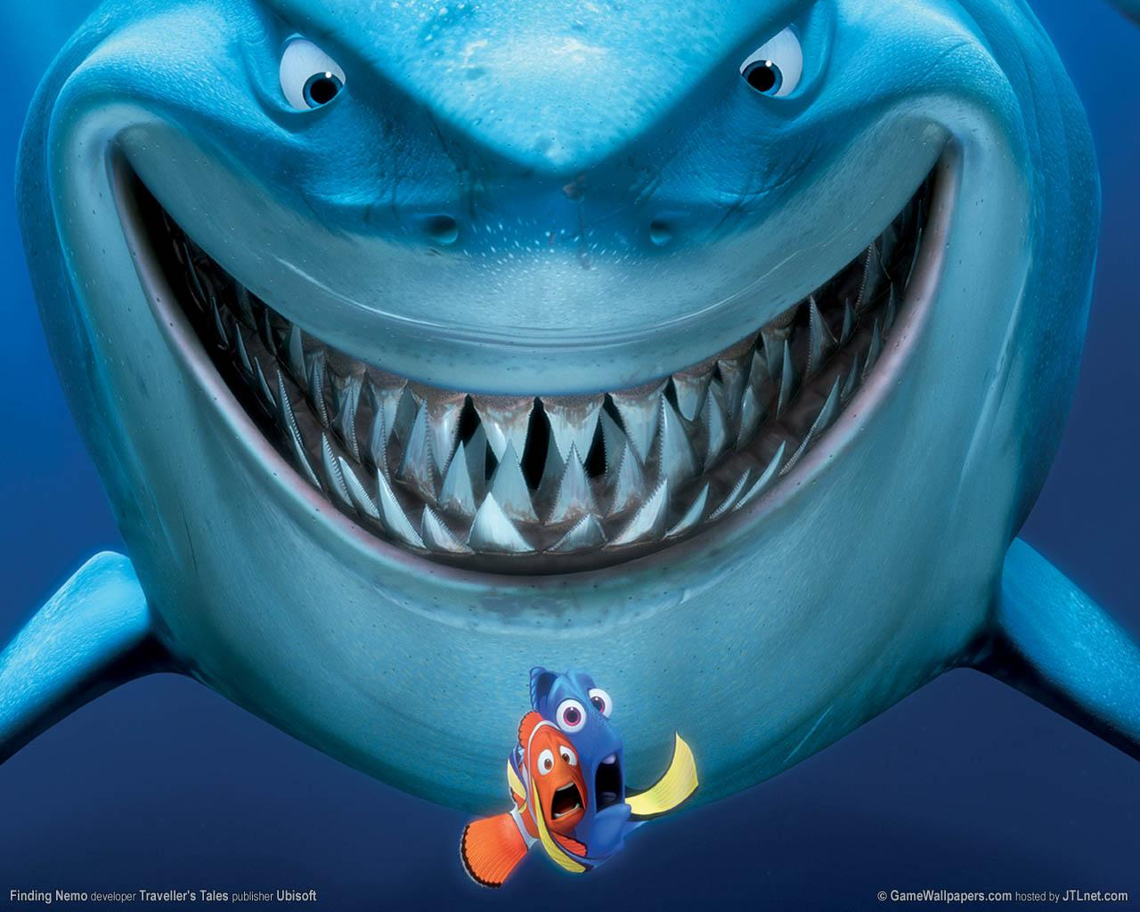 Finding Nemo Wallpapers on oscar fish human bite