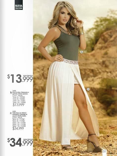 Blusa con Falda Larga Carmel C-1-15
