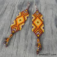free peyote pattern earrings схемы бисероплетение