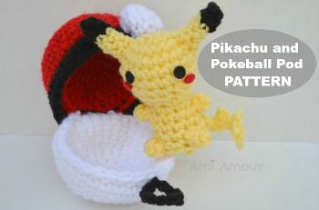 Amigurumi Patterns Pikachu : 2000 free amigurumi patterns: pikachu and pokeball pod crochet pattern