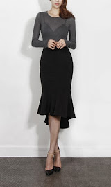Elegant Aristocrat Fishtail Midi Skirt