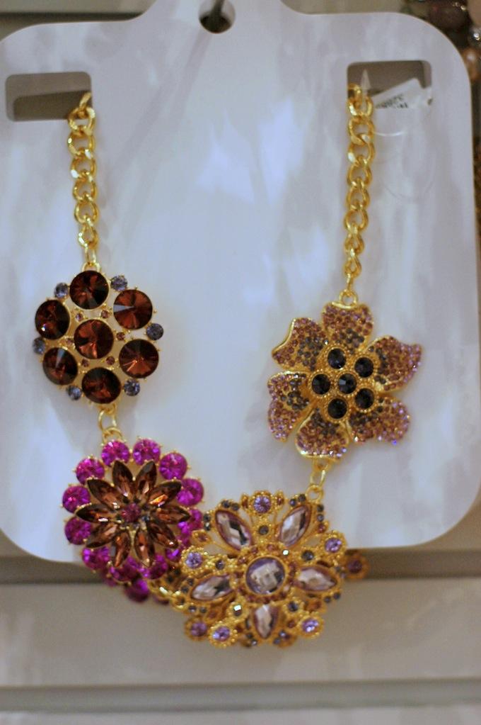 Le Château flower statement necklace
