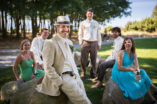 "Drew and his ""guys"" - Patricia Stimac,Seattle Wedding Officiant"