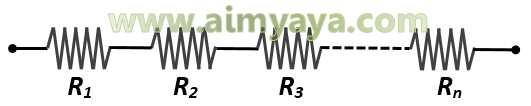 Gambar: Rangkaian Serial Resistor