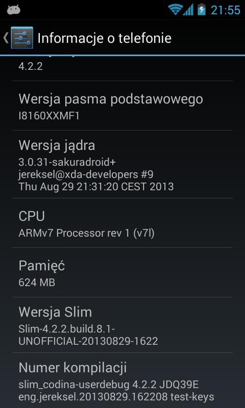Slim ROM 8.1 Build 4