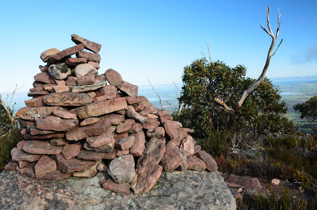 rock cairn on durd-durd summit