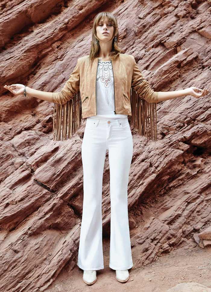 chaqueta de gamuza con flecos Tucci verano 2016