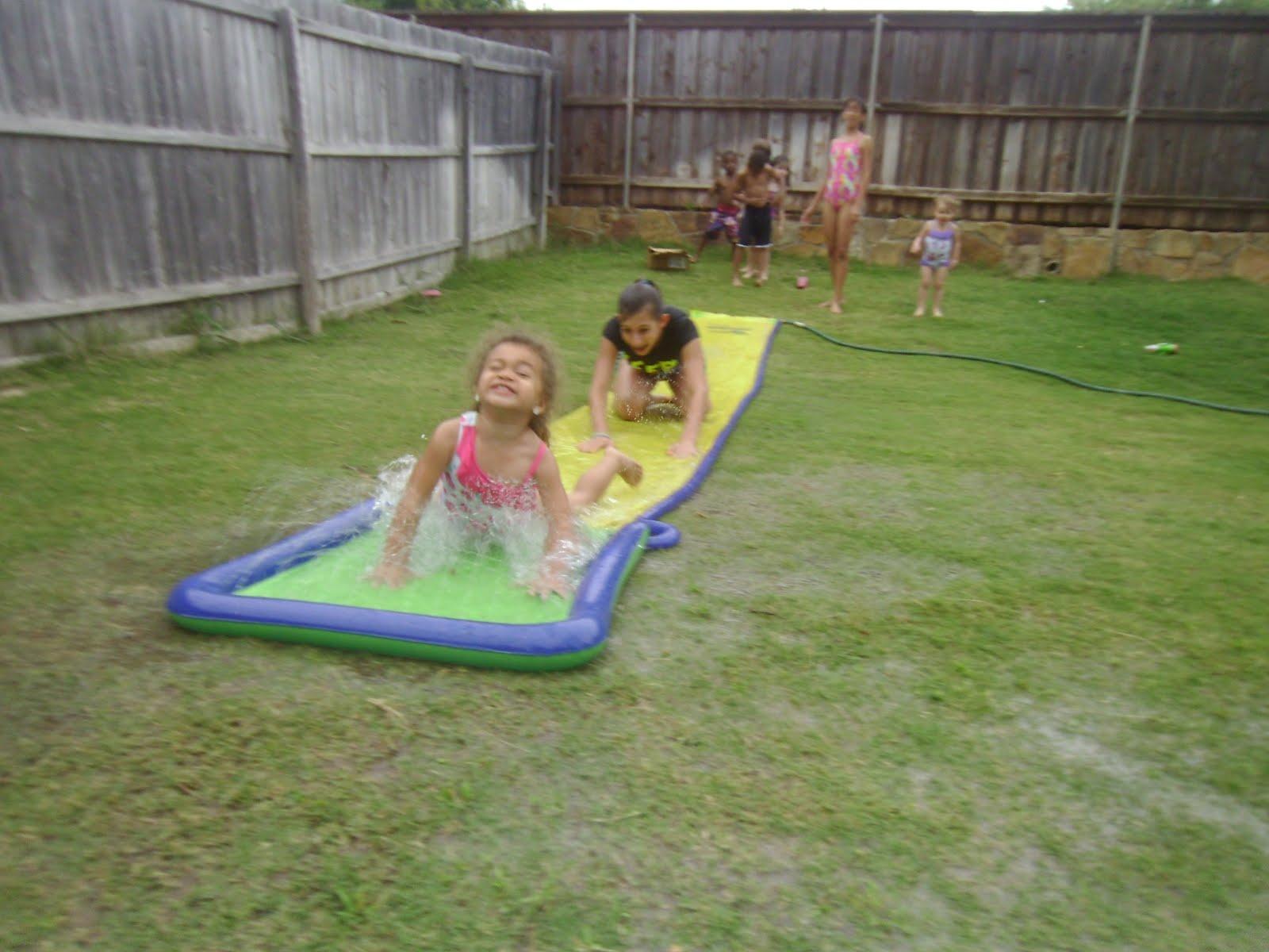 Huge Backyard Slide : The Big Texas Hill Family Daycare kids backyard slip n slide )