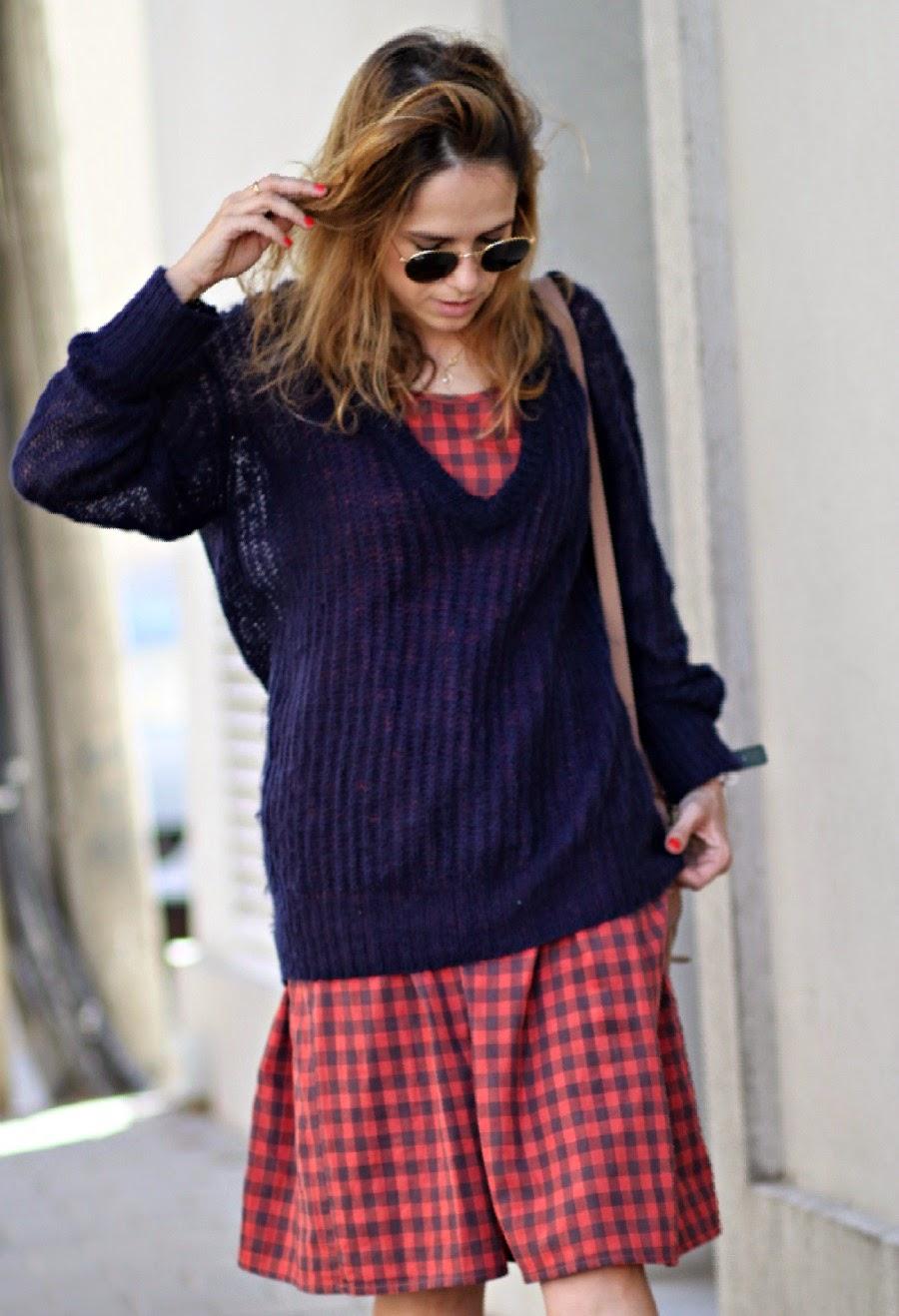 Gingham, dress, paris, pfw, coffee, style, lookoftheday, ss15, blog, fashionblog, בלוגאופנה, אופנה