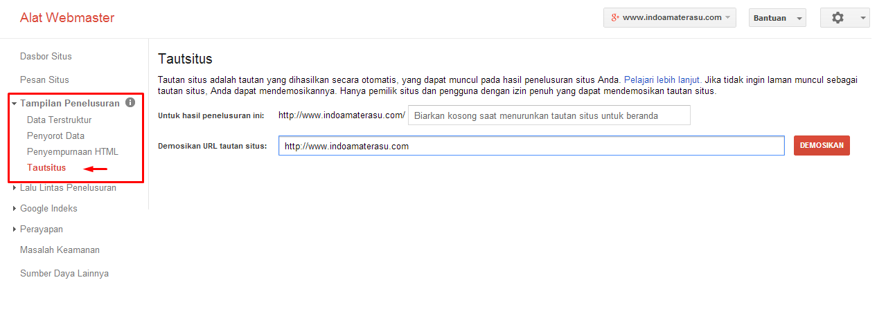 Cara Mendapatkan Sitelink Manual Dari Google Webmaster